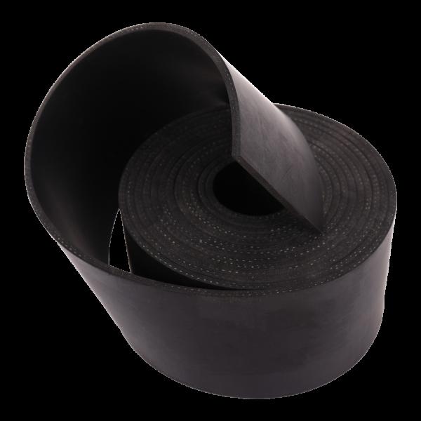 NR/SBR schwarz 65Sh mit 2 Gewebeeinlagen Rollen