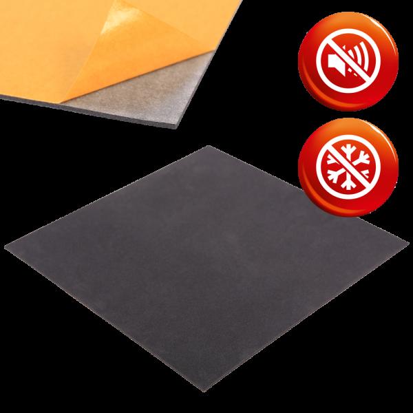 PE Schaum anthrazit RG33 Platten einseitig selbstklebend