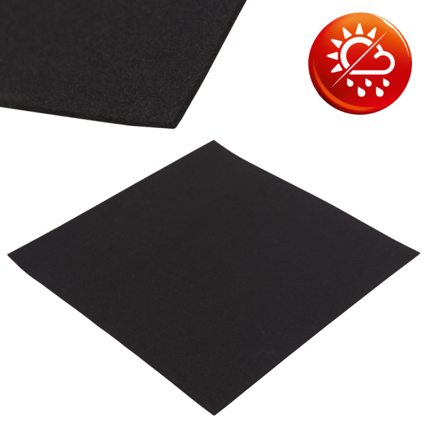 EPDM Zellkautschuk schwarz Platten