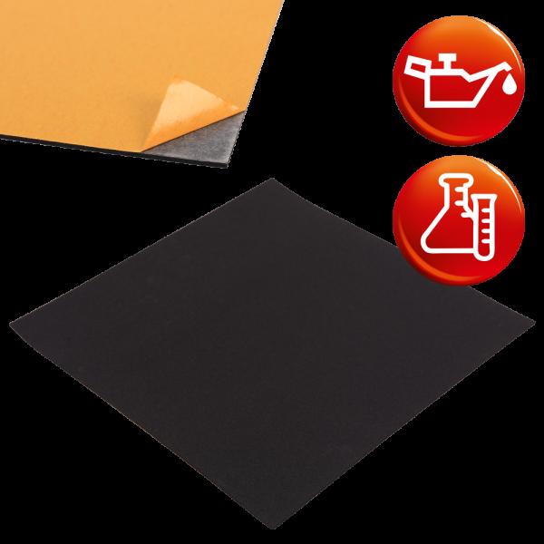 NBR Zellkautschuk schwarz Platten einseitig selbstklebend