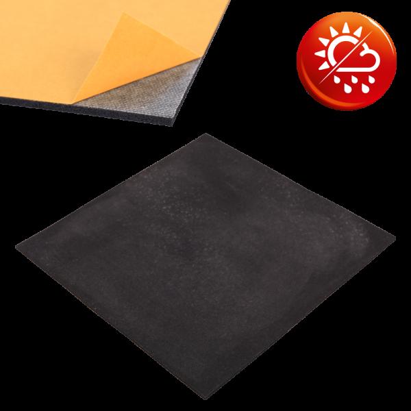 NK Moosgummi schwarz Platten einseitig selbstklebend