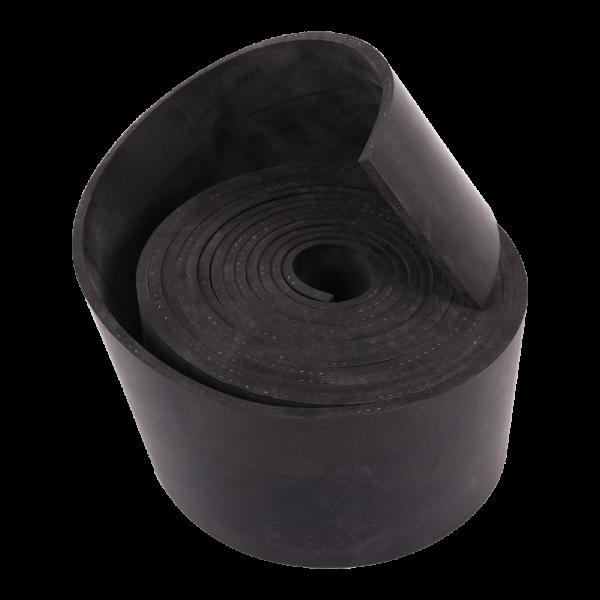 NR/SBR schwarz 65Sh mit 1 Gewebeeinlage Rollen